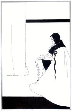 The Fall of the House of Usher, Author: Aubrey Beardsley - Series: Illustrations of short stories by Edgar Allan Poe Edgar Allan Poe, James Mcneill Whistler, Japanese Woodcut, Aubrey Beardsley, Ghost In The Machine, Allen Poe, Art Japonais, Ink Illustrations, Gravure