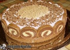 Érdekel a receptje? Hungarian Desserts, Hungarian Cake, Hungarian Recipes, Chestnut Cake Recipe, Cupcake Recipes, Cookie Recipes, Cake Slicer, Waffle Cake, Torte Cake