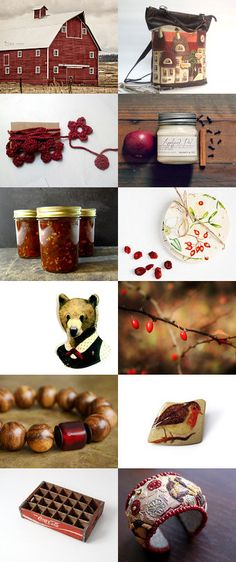 Scarlet ... Rustic .... Fall .... by Nathalie Patenaude on Etsy--Pinned with TreasuryPin.com