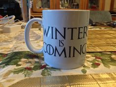 Hey, I found this really awesome Etsy listing at https://www.etsy.com/listing/218169373/winter-is-coming-game-of-thrones-mug
