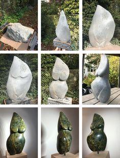 Schwangere, Skulptur aus Speckstein