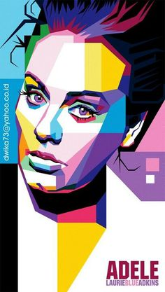 Adele in WPAP omfg! I'm in love wid dz pic Pop Art Portraits, Portrait Art, Photoshop, Sketch Manga, Pop Art Wallpaper, Kunst Poster, Adele, Portrait Illustration, Face Art