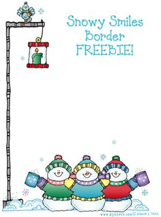 Of course, we have a fabulous DJ FREEBIE for you to start the holiday off with a smile. This delightful 'Snowy Smiles Border' is perfect for any holiday project... family newsletters, wish lists, seasons greetings or even caroling lyrics!  Go to FREEBIE: http://www.djinkers.com/photo_gallery.php?pid=447
