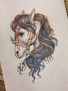 Nina Laine Tattoo : Circus horse tattoo, anyone?