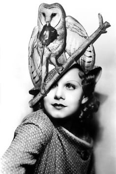 Jean Harlow - Owls make fab-u-lous hats, LOL.