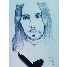 Jared Leto. Pencil on A4
