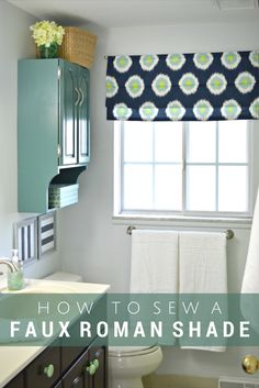 How to Make a Faux Roman Shade: a simple sewing tutorial - Mad in Crafts