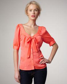 Nanette Lepore Totally Rad Bow Blouse on shopstyle.com