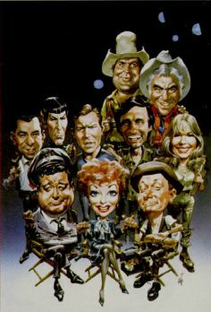 "Jackie Gleason, Lucille Ball, Art Carney, Sergeant Joe Friday from ""Dragnet,""…. 🌻 For more great pins go to Cartoon Faces, Funny Faces, Cartoon Art, Cartoon Characters, Funny Caricatures, Celebrity Caricatures, Art Carney, Silvester Stallone, Jackie Gleason"