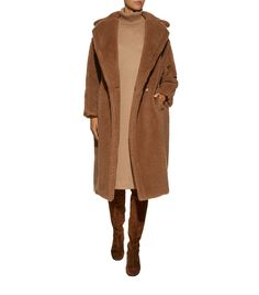 Women: Coats Max Mara Silk-Camel Teddy Coat Cold Weather Dresses, Cold Weather Fashion, Max Mara, Harrods, Casual Skirts, Women's Skirts, Teddy Coat, Kids Coats, Camel Coat