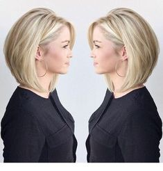 77 Trendy Bob Hairstyles For All Occasions - Page 12 of 77 - CoCohots - 77 Tren. 77 Trendy Bob Hairstyles For All Occas. Bob Hairstyles For Fine Hair, Chic Hairstyles, Hairstyles For Round Faces, Hairstyle Ideas, Medium Bob Hairstyles, Womens Bob Hairstyles, Natural Hairstyles, Pixie Haircuts, Wedding Hairstyles