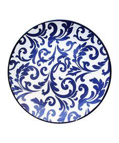 Blue Scroll Platter #zulily #zulilyfinds