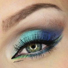 multicolor by makijazowo21 on Makeup Geek - pretty eye shadow - I just bought a NYX palette at Ulta that has these shades - going to try it out.