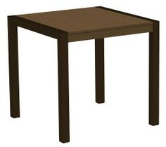 29.75 in. Modern Dining Table in Teak w Textured Bronze Frame by Polywood. $399.99. Commercial grade stainless steel hardware. Solid, heavy-duty construction. Eco friendly. Easy to clean with soap and water. Includes hardware pack and assembly tool. Includes hardware pack and assembly tool. Eco friendly. Solid, heavy-duty construction. Commercial grade stainless steel hardware. Easy to clean with soap and water. Warranty: Twenty years limited on residential and one yea...