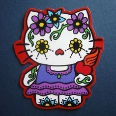 Hello Kitty Dia de los Muertos Magnet by sarahwasphone, via Flickr