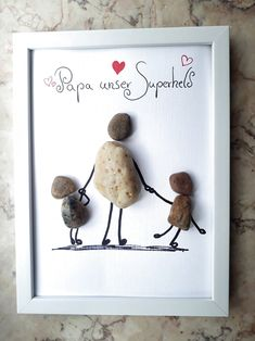 Day gifts for him Stone Image Fathers Day Gift Superhero Dad Steinbild Vatertag Geschenk Superheld Papa Diy Gifts For Dad, Cool Fathers Day Gifts, Diy Gifts For Friends, Fathers Day Crafts, Valentine Day Crafts, Toddler Arts And Crafts, Easter Arts And Crafts, Christmas Crafts For Adults, Diy Crafts For Kids