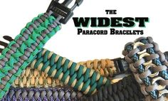 Make a statement with a wide paracord bracelet! These 8 cuff style bracelets give you tons of paracord and style.