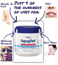Some of the many uses for Aquaphor Healing Ointment