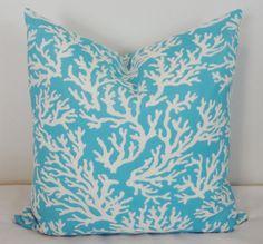 Cuscino stampa corallo blu luce esterna coprire cuscini decorativi per il Deck portico 18 x 18