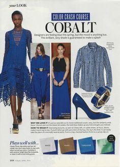 Color Crash Course: Cobalt #instyle