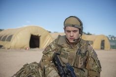 Our Girl, series one: Smurf played by Iwan Rheon Lacey Turner Our Girl, Our Girl Bbc, Iwan Rheon, C Ops, Girls Series, American Pride, Linkin Park, Series Movies, New Series