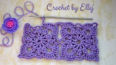 Безотрывное вязание квадратных мотивов. Crochet without cutting the thread.