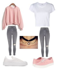 """""""Scuola"""" by moda-makeup on Polyvore featuring River Island, RE/DONE and Vans"""