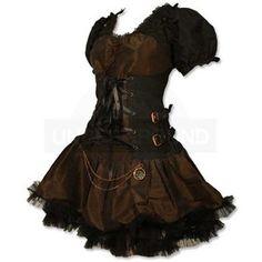 Undergroundstore - Steampunk Dress Black / Brown Steampunk D ...