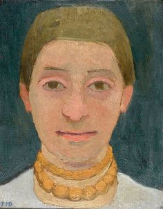 Paula Modersohn-Becker Portrait of the Artist's Sister Herma with Amber Necklace, Circa 1905
