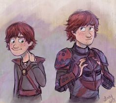 Is it just me or does anyone else prefer young Hiccup ? No okay well he's mine anyways- I LOVE BOTH!!!!