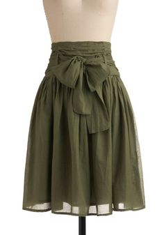 In Tandem Skirt in Olive- pretty