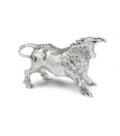 sterling silver bull ornament -for your handsome beast.