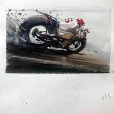 Motorcycle Art, Bike Art, Car Painting, Figure Painting, Bike Sketch, Bike Illustration, Cult, Automotive Art, Sports Art