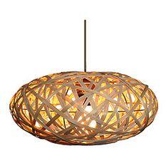 Lámpara de colgar ELIPSE TIRAS BAMBÚ Ref. 14923342 - Leroy Merlin - Bricolaje, construcción, decoración, jardín
