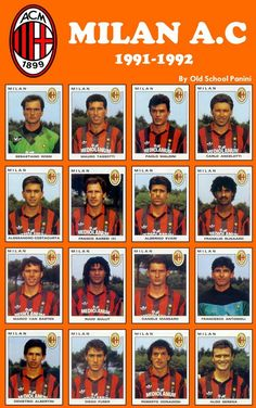 AC Milan inc two excellent Chelsea managers Ruud Gullit and Carlo Ancelotti Fifa Football, Best Football Team, World Football, Football Cards, College Football, Ac Milan Kit, Ruud Gullit, Marco Van Basten, Paolo Maldini