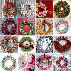 Lots of wonderful wreath ideas!
