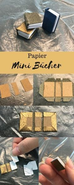 Minibild wenigstens miniatures Bücher buch book minibook dollhouse diy diybuch papier diy The post DIY Geldgeschenk Mini Schlafzimmer appeared first on PINK DiY. Barbie Furniture, Modern Dollhouse Furniture, Miniature Furniture, Doll House Crafts, Doll Crafts, Paper Crafts, Minis, Papier Diy, Miniature Crafts