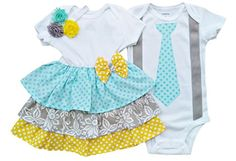 e5c401180 Perfect Pairz Boy Girl Twin Outfits Grace and Grayson by USA Made Outfit Boy  Girl Twin