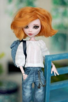 White blouse for Monster High / Ever After High от ElenaShowRoom