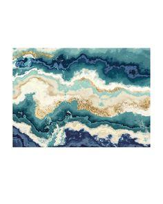 CRYSTAL ART GALLERY Blue Agate Wall Art