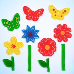 GelWonder | Window Clings | Small Bag of Butterfly Garden | Spring Flowers | Butterflies | Can be used on any non-porous surface | www.homearama.co.uk