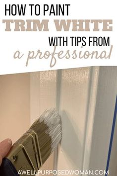 Painting Wood Trim, Painting Baseboards, House Painting, Diy Painting, Painting Trim Tips, Painting Doors, Painting Molding, Painting Hacks, Professional Painters