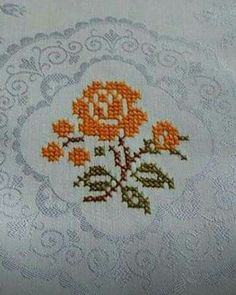 123 Cross Stitch, Cross Stitch Bookmarks, Cross Stitch Flowers, Cross Stitch Designs, Cross Stitch Patterns, Hardanger Embroidery, Embroidery Motifs, Embroidery Patterns Free, Silk Ribbon Embroidery