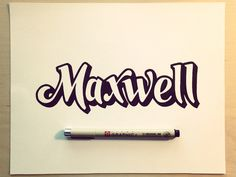 Maxwell by Sean McCabe #font #lettering #typography #design