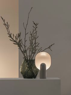 This Lamp Design Combines Two Organic Shapes Into a Fascinatingly Original Form - The Ware Table Lamp by MSDS Studio for New Works Ikea Lamp, Rustic Lamps, Antique Lamps, Hanging Vases, Wooden Lamp, Organic Shapes, Lamp Design, Light Table, Lights