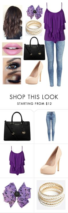 """""""Untitled #71"""" by amymcwray ❤ liked on Polyvore featuring MICHAEL Michael Kors, H&M, Charles by Charles David, Music Notes, ZooShoo and Fiebiger"""