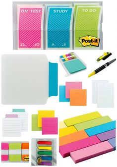 New Post-it Study Collection!  These are so cool!  Sure wish these had been around in my day