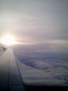 Sky at sunset, from plane window