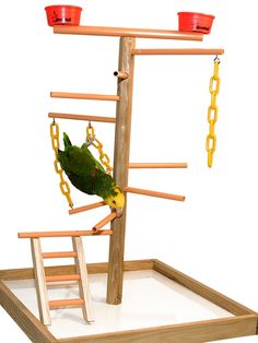 Parrot play stand ideas