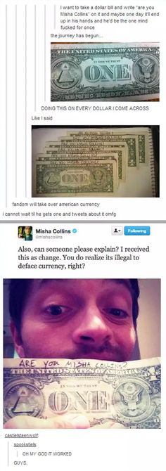 Funny pictures about Misha Collins Needs An Explanation. Oh, and cool pics about Misha Collins Needs An Explanation. Also, Misha Collins Needs An Explanation photos. My Tumblr, Tumblr Posts, Tumblr Funny, Dc Memes, Funny Memes, Hilarious, Funny Tweets, Funny Gifs, Videos Funny